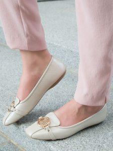 baleriny białe