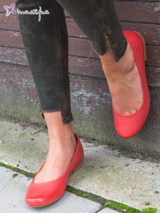 damskie baleriny czerwone
