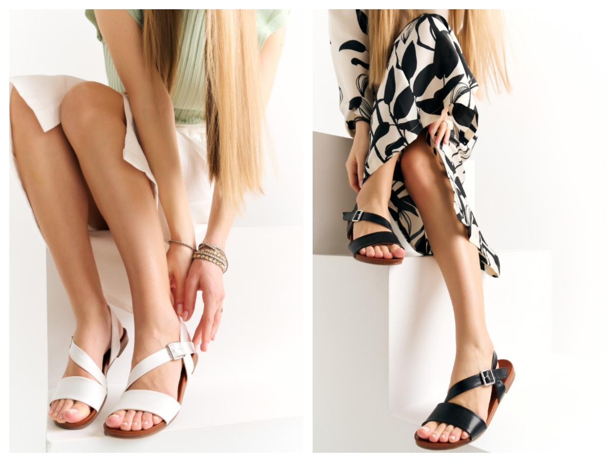 Płaskie sandały damskie na lato